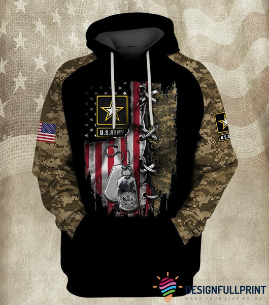 US Armed Forces Camo US Unisex Size Hoodie