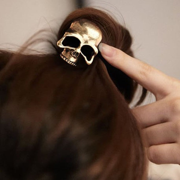 Skull Ponytail Elastic Hair Bands - designfullprint