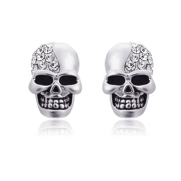 Skull Ear Stud Earrings - designfullprint