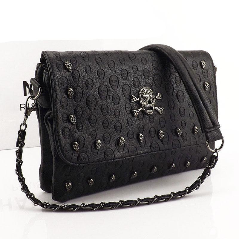 Skull Clutch Bag - designfullprint