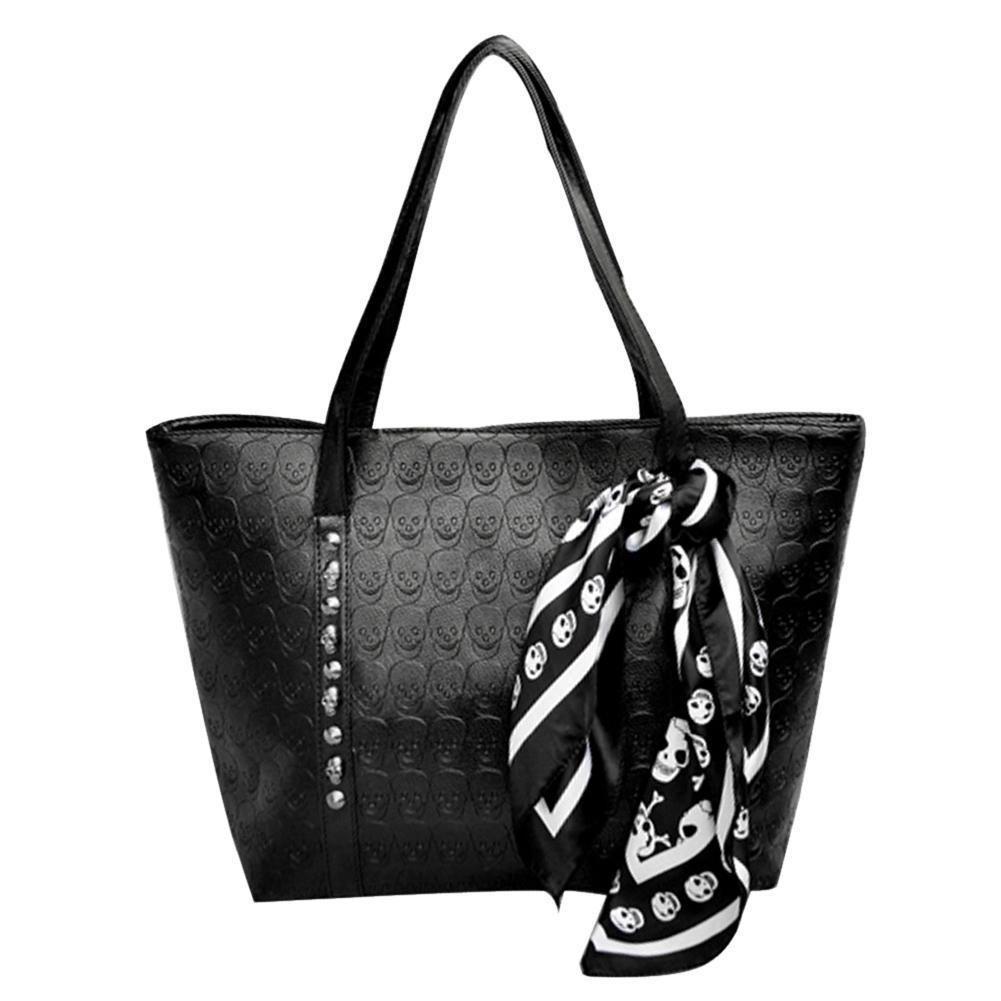 Skull Shoulder Bags With Scarf