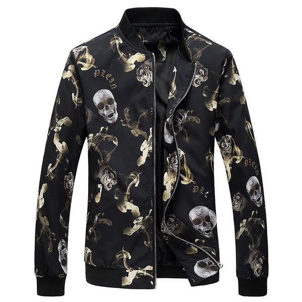 Men's Skull Jacket - designfullprint