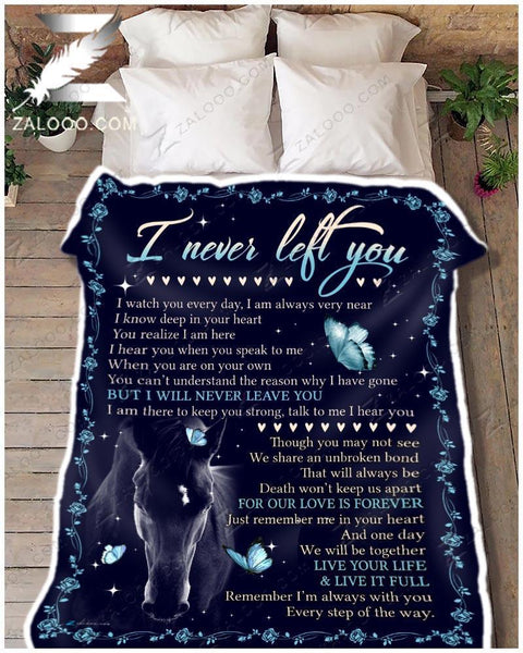 Horse Blanket I Never Left You