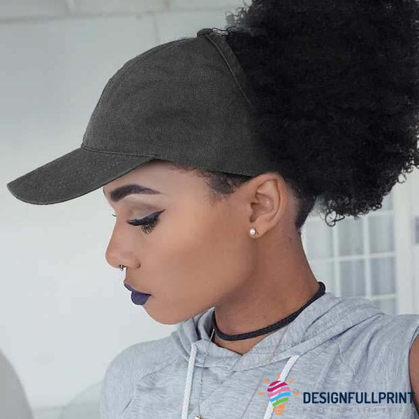 Natural Hair Ponytail Baseball Cap For Black Queens