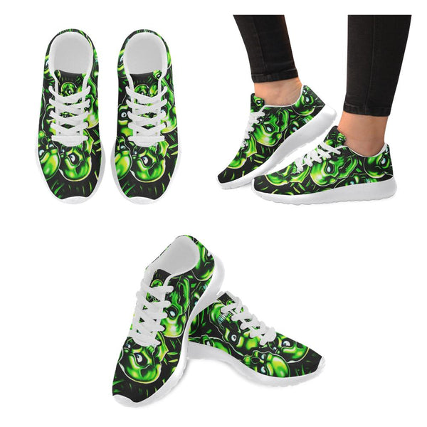Green Headed Skull Women's Sneakers