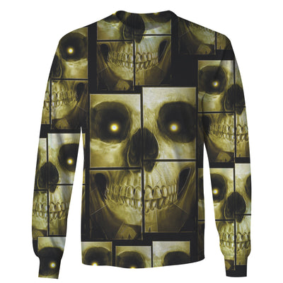 3D Skull Puzzle Unisex Hoodie, Long-sleeve, Tee, Zip up 027 - designfullprint
