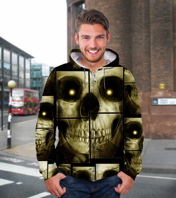 3D Skull Multi Unisex Hoodie, Long-sleeve, Tee, Zip up 027