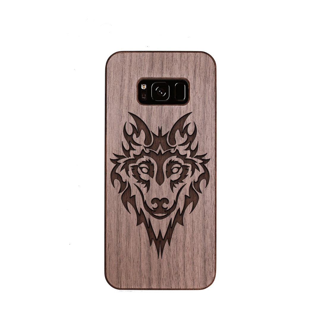 Wood Phone Case for Universal Models - Wolf Head 005 - designfullprint