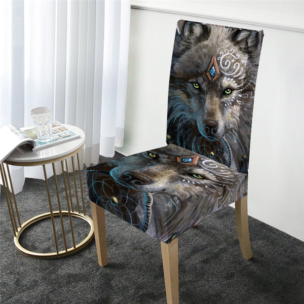 Wolf Washable Seat Cover