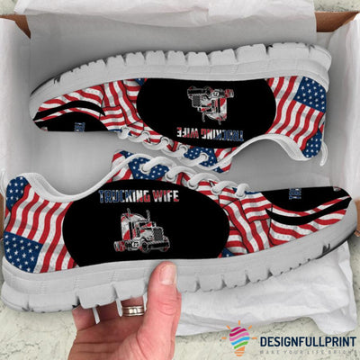 Trucking Wife 4th July Sneaker