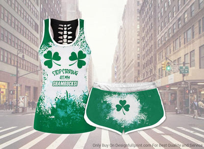 Stop Staring At My Shamrock Tank Shorts Set
