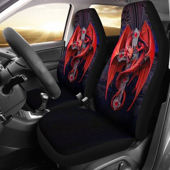 Red Dragon Car Seat Cover