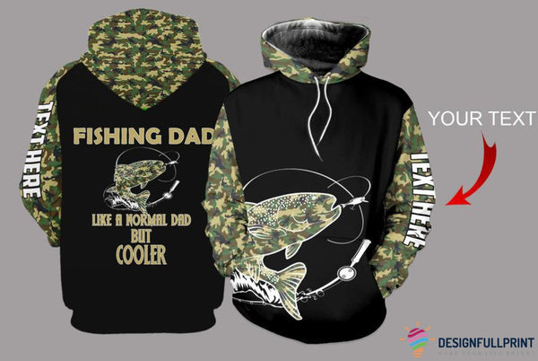 Fishing Dad Salmon Camo Personalized US Unisex Size Hoodie