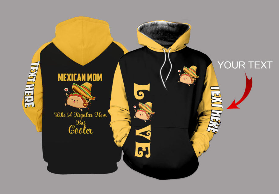 Mexican Mom Personalized US Unisex Size Hoodie