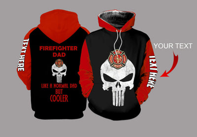 Fire Fighter Dad Personalized US Unisex Size Hoodie