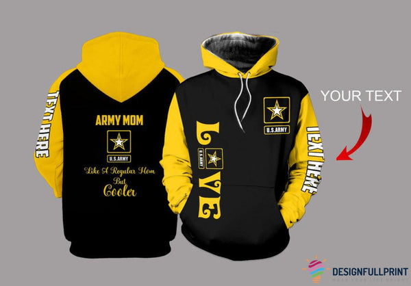 Army mom Personalized US Unisex Size Hoodie