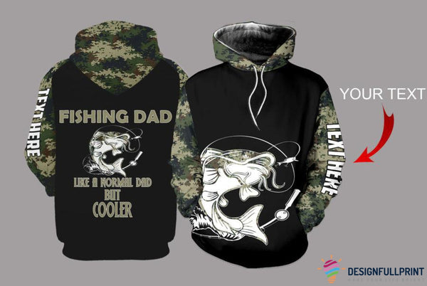 Fishing Dad Catfish Camo Personalized US Unisex Size Hoodie