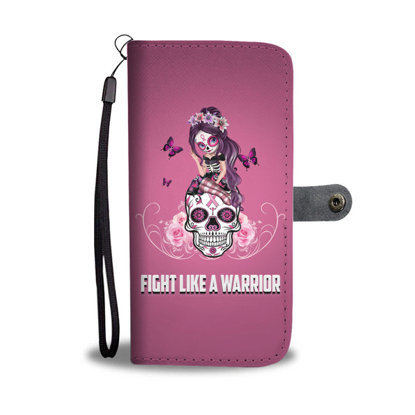 Fight Like A Warrior Pink Sugar Skull Breast Cancer Awareness Case