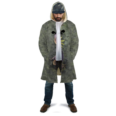 New Skull and Flower AOP Cloak