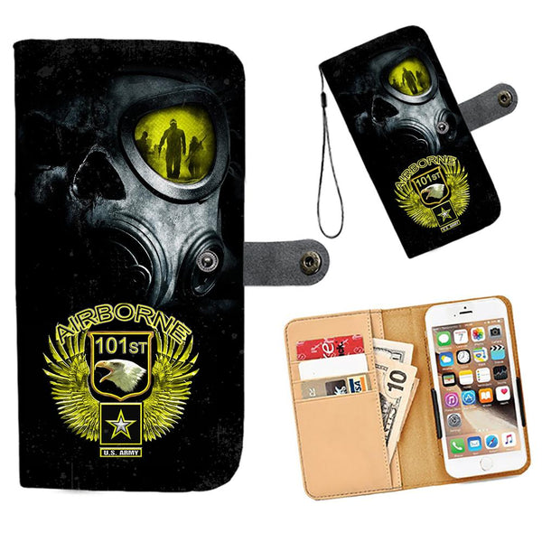 Cell Phone Wallet Case for Universal Models - AIRBORNE FORCE - designfullprint
