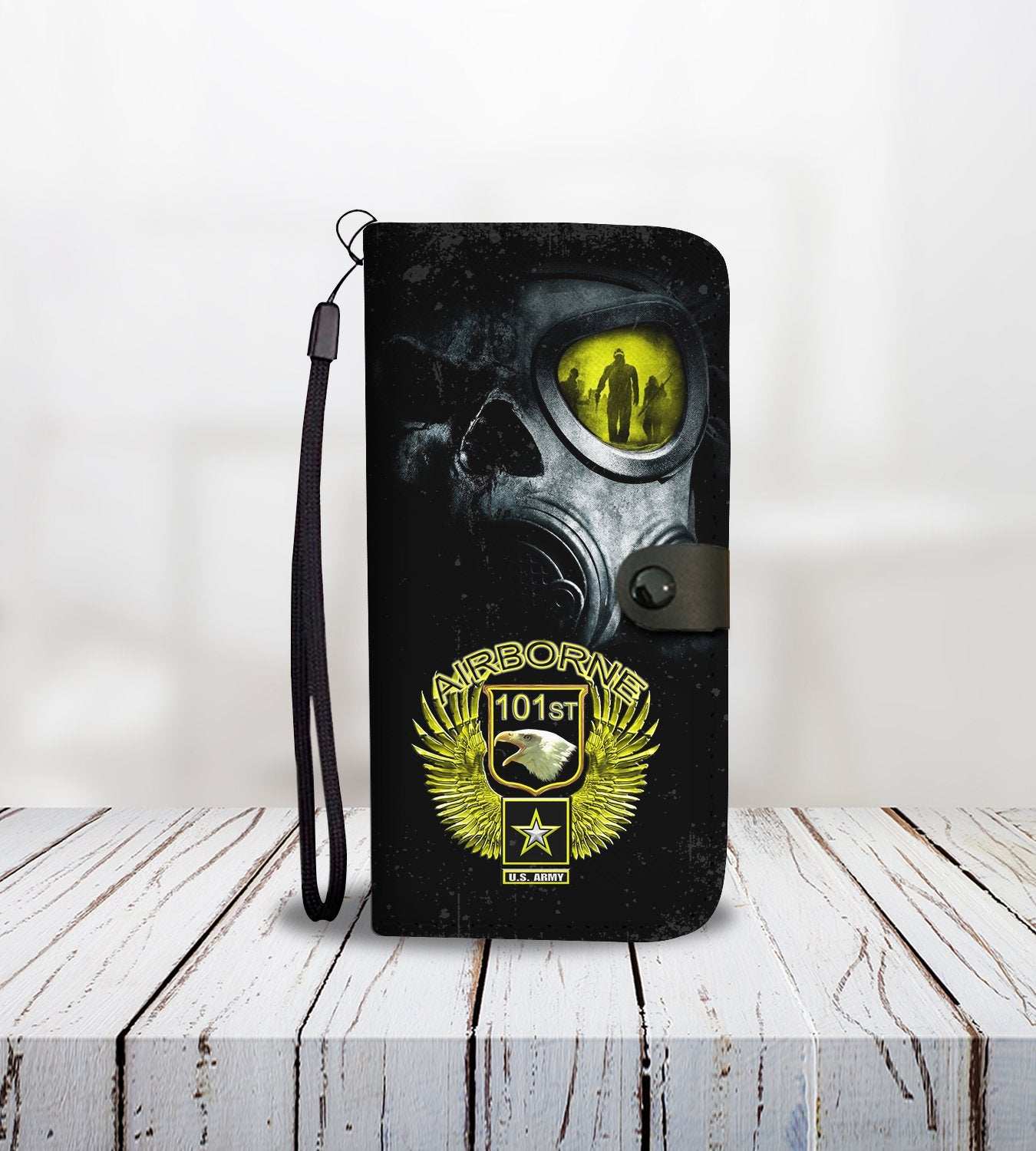 Cell Phone Wallet Case for Universal Models - AIRBORNE FORCE