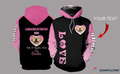 Labrador Retriever Mom Personalized US Unisex Size Hoodie