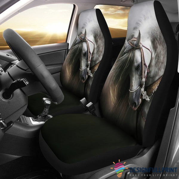 Beautiful White Horse Car Seat Cover