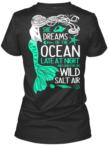 She Dreams Of The Ocean Late At Night Ultra Cotton Shirt
