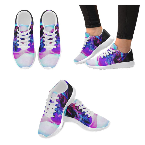 Violet Forest Skull Women's Sneakers