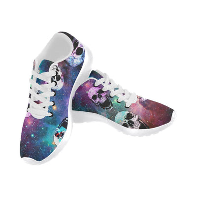Galaxy and Skulls Printed Women's Sneakers