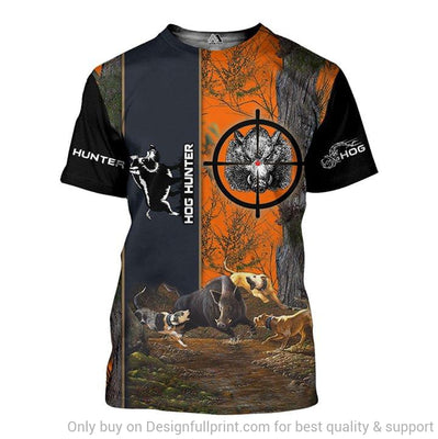 Camo Hog Hunting T-Shirt
