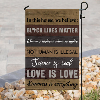 In This House We Believe – Black Lives Matter Flag THB2140F
