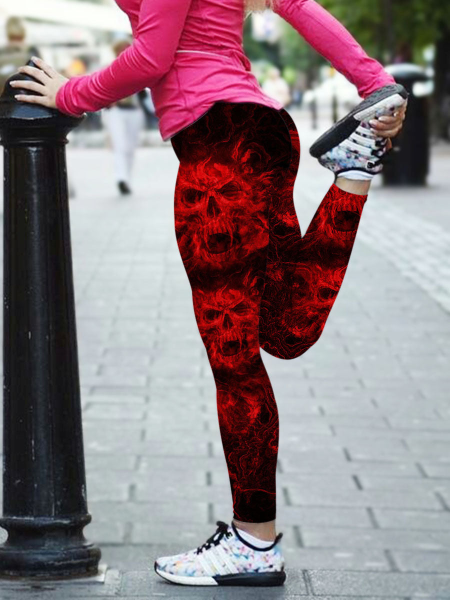 Skull Art Leggings 06 - designfullprint