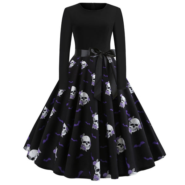 Helpurn Style Skull Party Dress