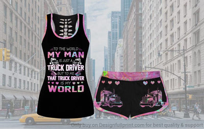Trucker Wife Tank and Shorts Set