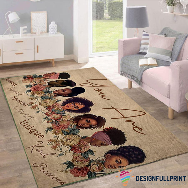 God Says Black Beautiful Rugs