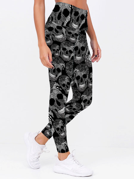 Skull 3D Leggings 03 - designfullprint
