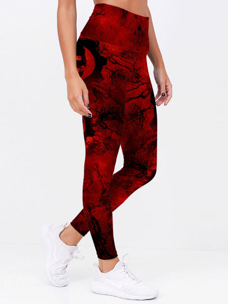 Skull Art 3D Leggings 05 - designfullprint