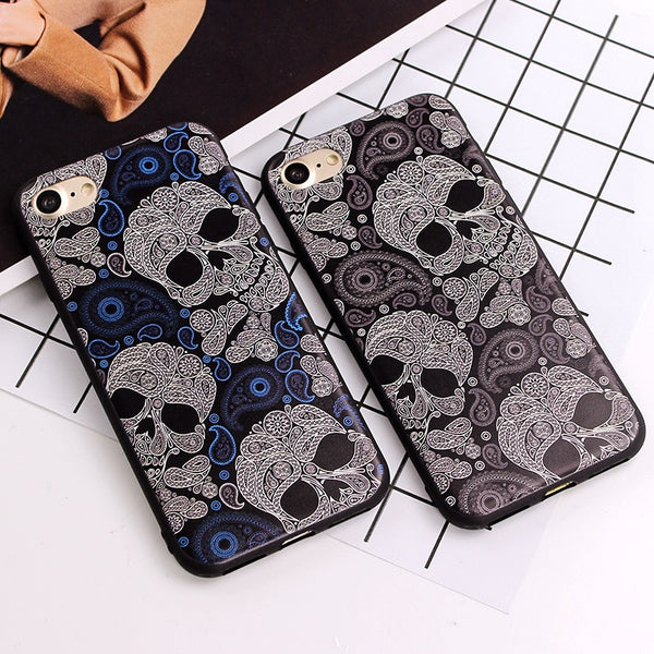 Skull Couple Case For iPhones - designfullprint