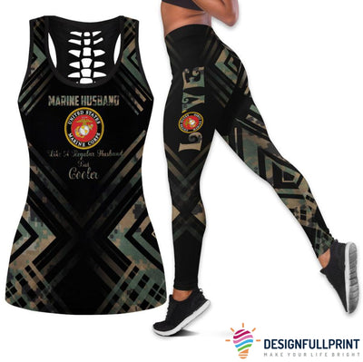Marine Husband Tank Top And Legging Set