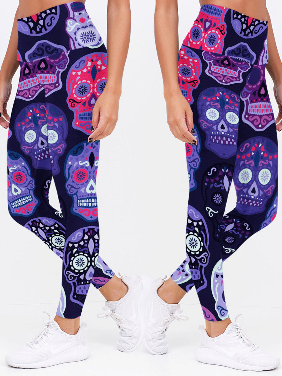 Skull 3D Leggings 04 - designfullprint