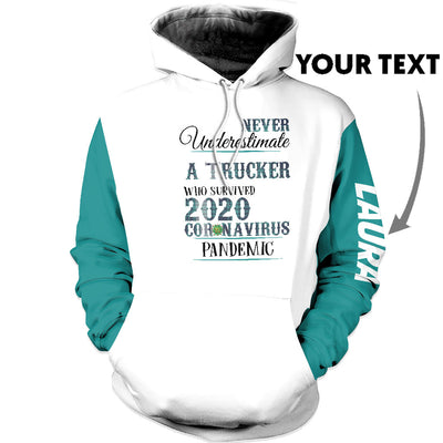 Personalized A trucker US Unisex Size Hoodie
