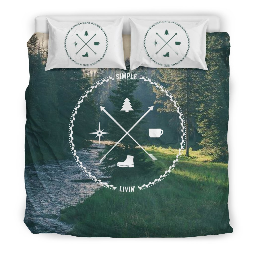 Camping Black Bedding Set 02