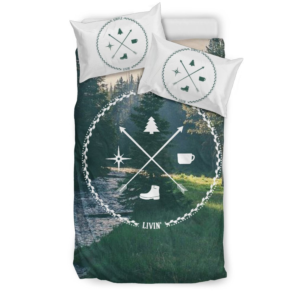 Camping Black Bedding Set 02 - designfullprint
