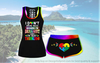 Autism I am Brilliant Tank and Shorts Set