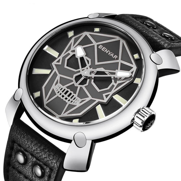Vintage Military Skull Watch - designfullprint