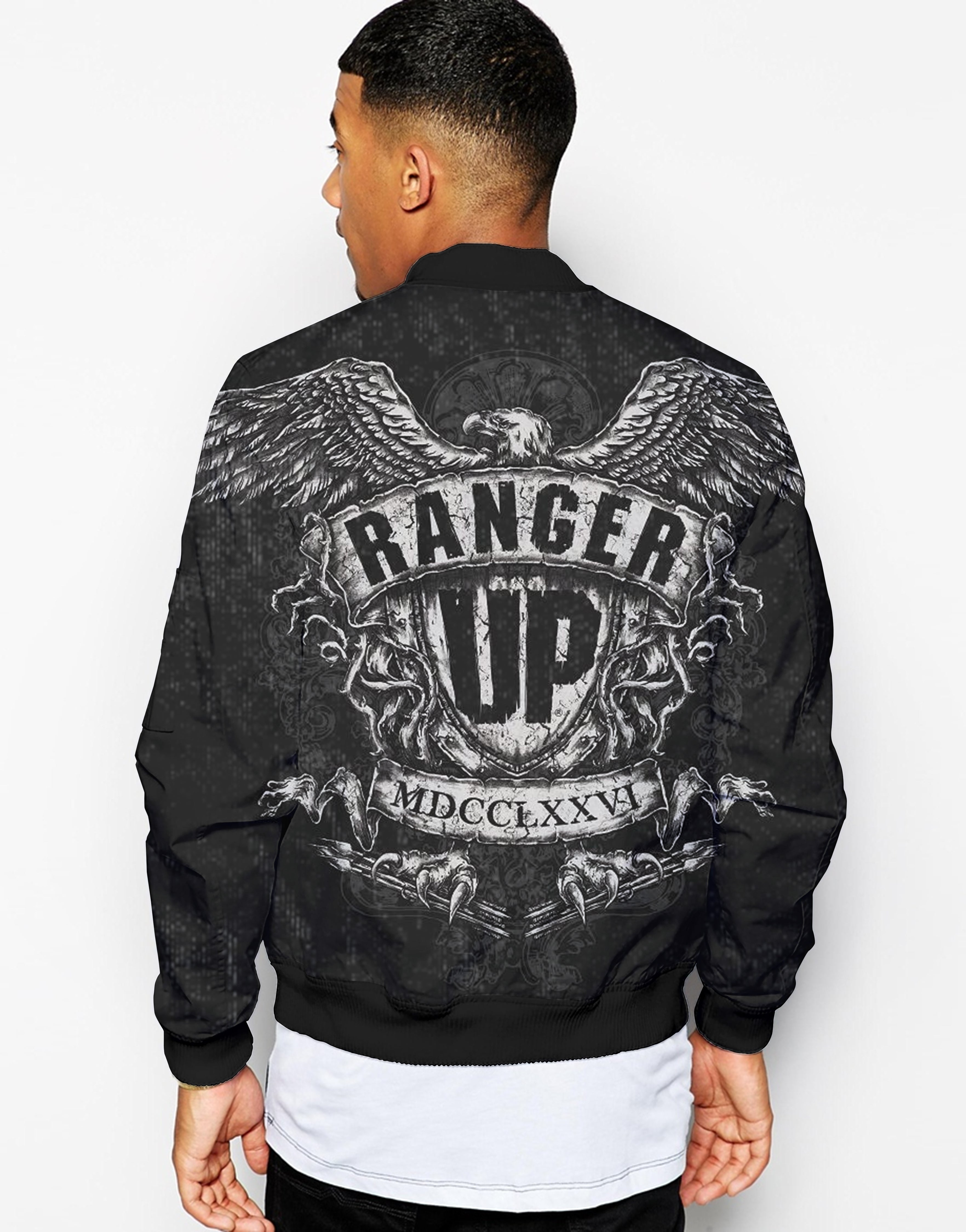 Unisex Couple 3D Army Forces Art Printed Driver Bomber Jacket - RANGER UP MCDDCLXXVI - designfullprint