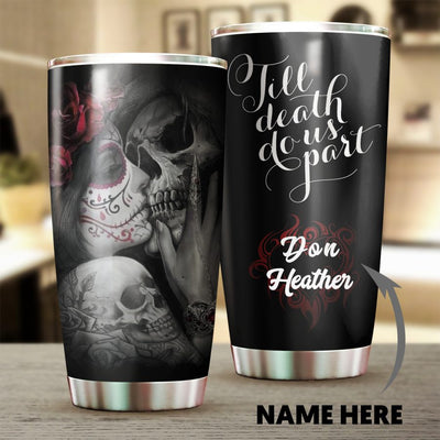 Personalized Till Death Do Us Part Tumbler