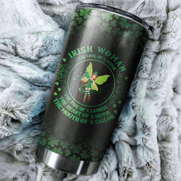 Irish Woman The Soul Of A Witch Tumbler