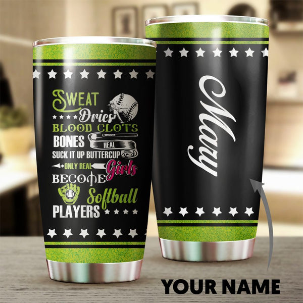 Softball Player Personalized Tumbler